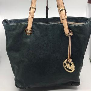 Michael Kors Cobalt Green Leather Shoulder Bag
